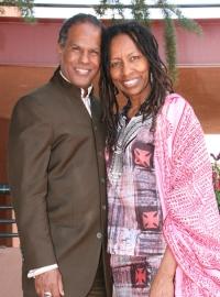 Michael Beckwith met zijn vrouw Ricky